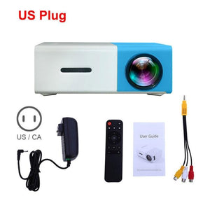 Pocket LED Projector (600 lumen, 3.5mm Audio, 320x240 Pixels, HDMI/USB)