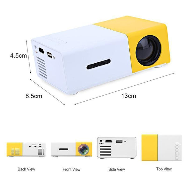 Pocket LED Projector (600 lumen, 3.5mm Audio, 320x240 Pixels, HDMI/USB)-Other Electrical Products-[variant_title]-Khadiza Electricals