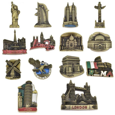 Famous Monuments Metal Fridge Magnet-Non Electric Home Decor-[variant_title]-Khadiza Electricals