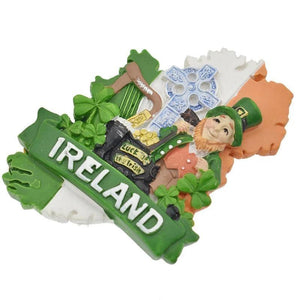 Handmade Painted Ireland Resin Fridge Magnet-Non Electric Home Decor-[variant_title]-Khadiza Electricals