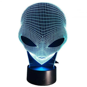 Alien Night  Lamp With Touch Switch(3D Hologram Illusion)-Decorative Night Lamp-[variant_title]-Khadiza Electricals