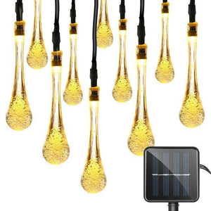 Water Drop LED String Light Solar China / Warm White / 0-5W