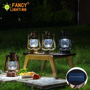 Solar LED Vintage Kerosene Lamp for Outdoor
