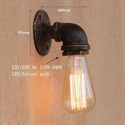 Vintage Retro Wall Lamps With Iron Water Pipe Look-Decorative Wall Lamp-YY-BG804 / China-Khadiza Electricals