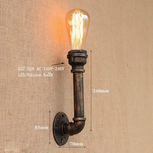 Vintage Retro Wall Lamps With Iron Water Pipe Look-Decorative Wall Lamp-YY-BG812 / China-Khadiza Electricals