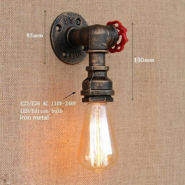 Vintage Retro Wall Lamps With Iron Water Pipe Look-Decorative Wall Lamp-YY-BG807 / China-Khadiza Electricals