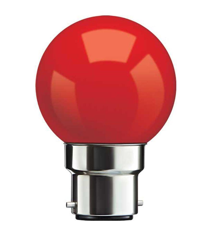 LED Round Night Lamp (pack of 100 Pcs)-[product_type]-B22 / India / Red-Khadiza Electricals