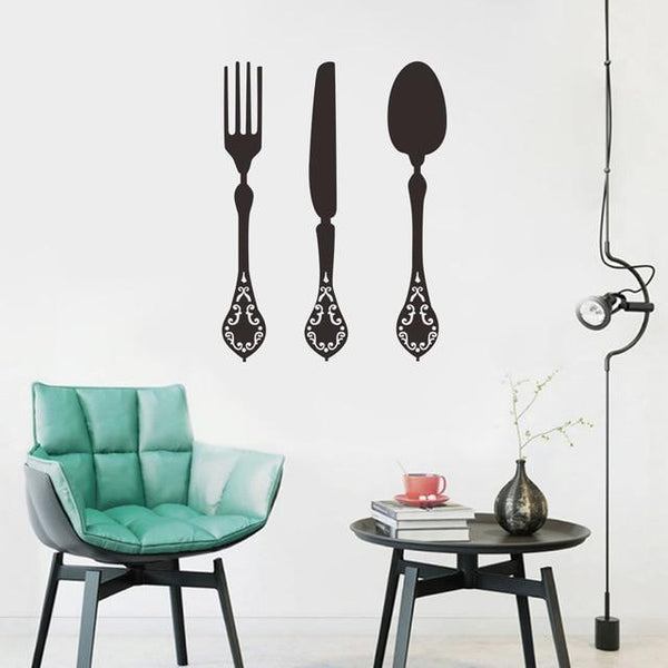 Removable Tableware Wall Stickers  for Dinning Decoration-Non Electric Home Decor-a / China-Khadiza Electricals