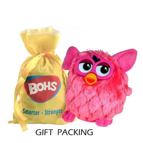 Talking Plush Phoebe Owl(17 CM)-Toy-pink  gift packing-Khadiza Electricals