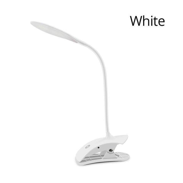 Dim-able LED Table lamp With Clip Stand and Touch Switch-Decorative Table Lamp-White-Khadiza Electricals