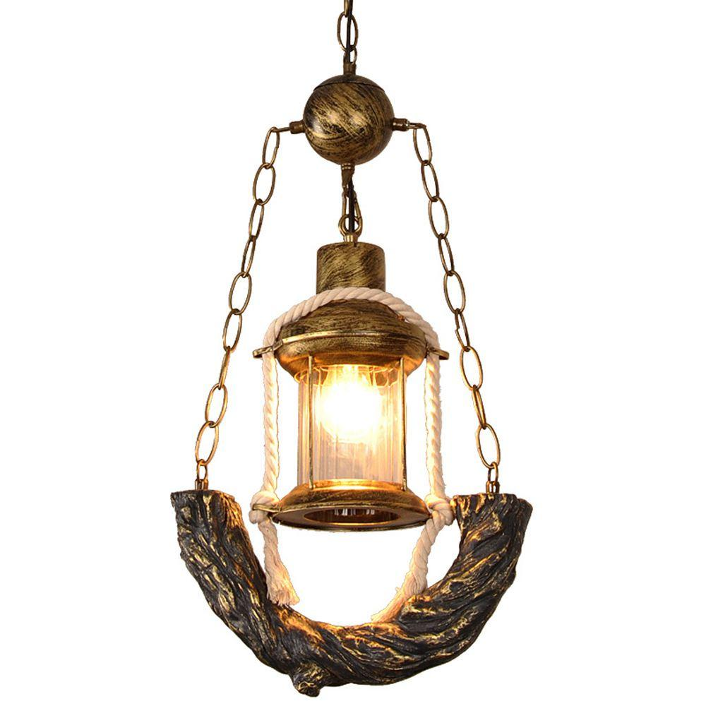 Vintage Pendant Kerosene Lamp made of Bronze & Resin(Bulb Excluded)-Decorative Pendant Lamp-[variant_title]-Khadiza Electricals