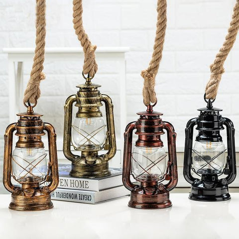 Vintage Kerosene Pendant Lights With Free E27 Bulb-Decorative Pendant Lamp-[variant_title]-Khadiza Electricals