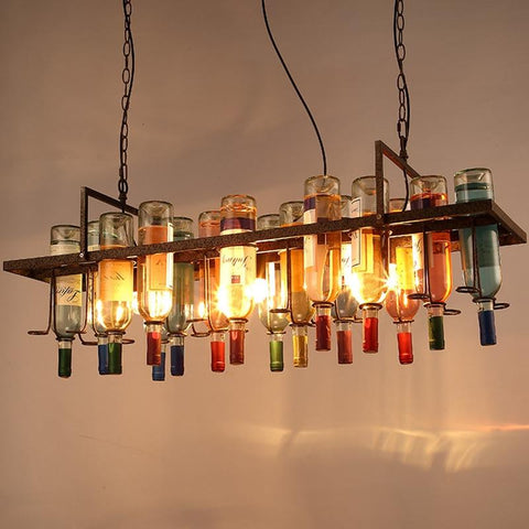 Vintage Retro Bottle Iron Pendant Light