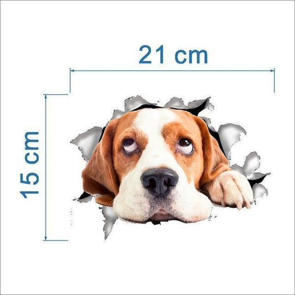 Cat & Dog 3D Wall Sticker-Non Electric Home Decor-3-Khadiza Electricals
