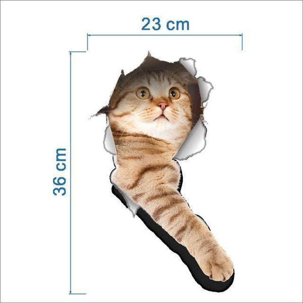 Cat & Dog 3D Wall Sticker-Non Electric Home Decor-5-Khadiza Electricals