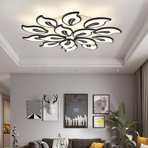 Acrylic White Modern LED Chandelier-Decorative Chandelier-[variant_title]-Khadiza Electricals