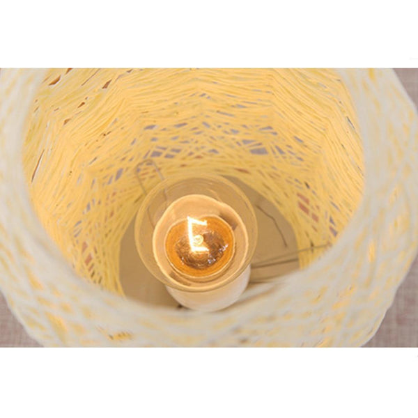 Wood Rattan Twine Ball Table Lamp-Decorative Table Lamp-[variant_title]-Khadiza Electricals