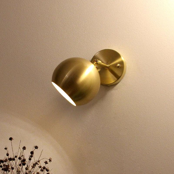 Golden Metal Wall Lamp (E27)