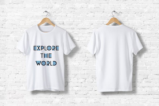 "Offroad T-Shirt ""Explore the World"" in weiß"