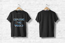 "Offroad T-Shirt ""Explore the World"" in schwarz"