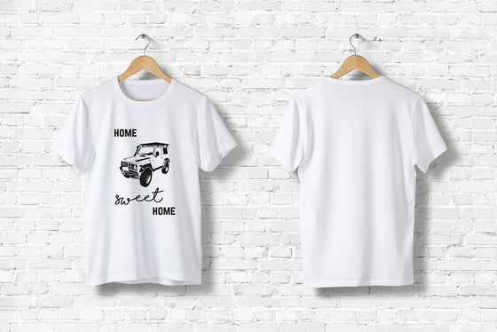 "Offroad T-Shirt ""Home sweet home"" in weiß"
