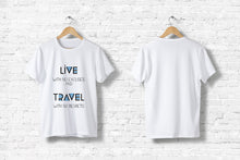 "Offroad T-Shirt ""Live and Travel"" in weiß"