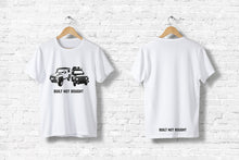 "Offroad T-Shirt ""Built not bought #2"" in weiß"