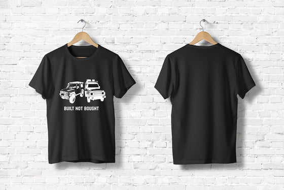 "Offroad T-Shirt ""Built not bought #2"" in schwarz"