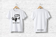 "Offroad T-Shirt ""Built not bought #1"" in weiß"