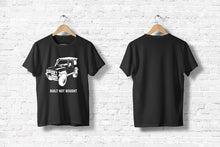 "Offroad T-Shirt ""Built not bought #1"" in schwarz"