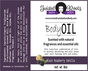 New! Twisted Body Oil