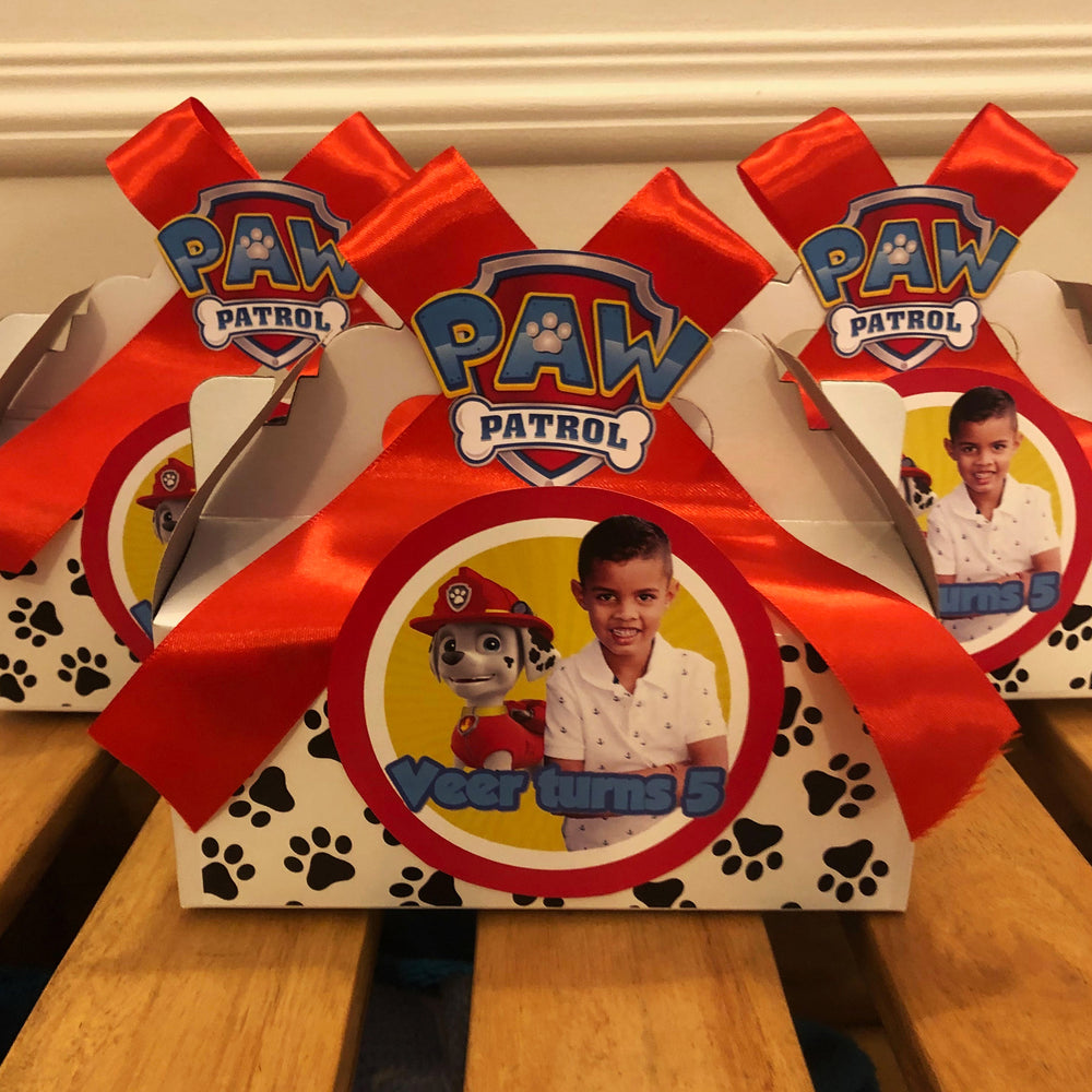 Paw Patrol Party Box including Content
