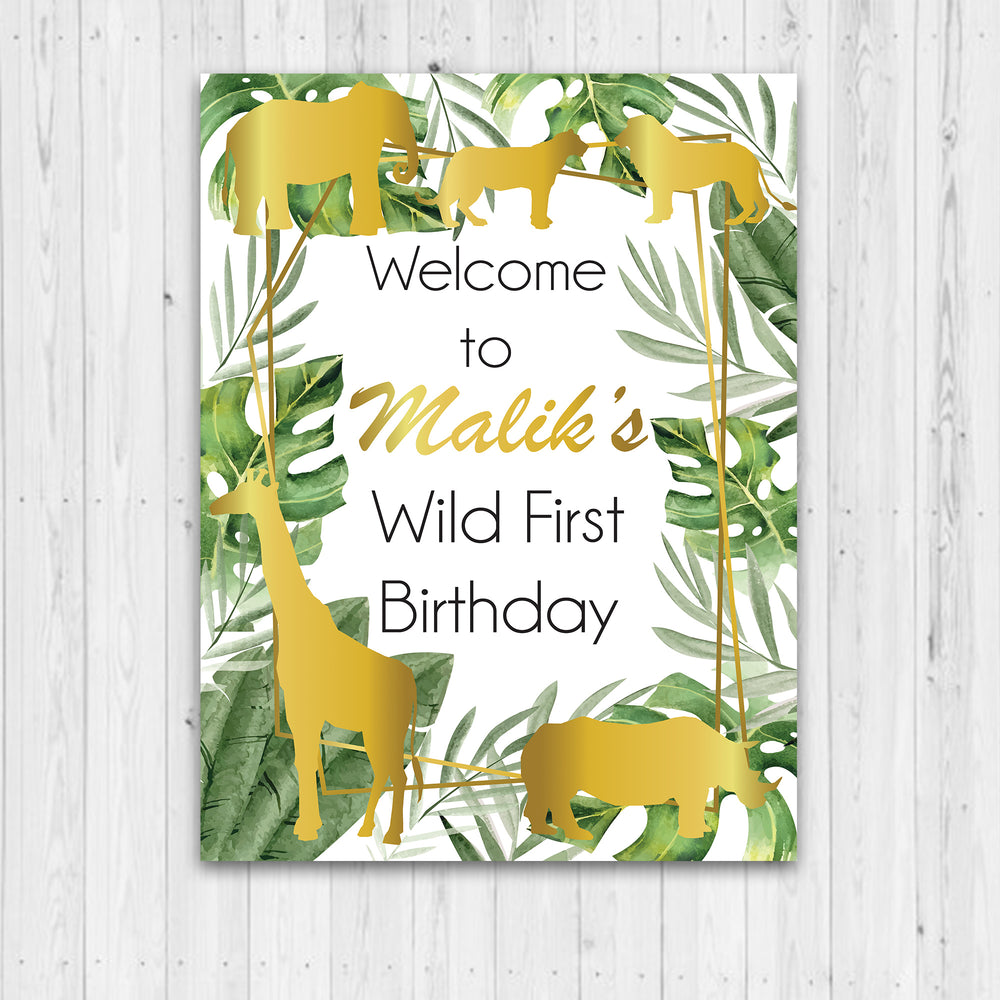 Welcome Sign Kids Party - Wild One