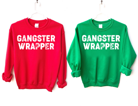 Gangster Wrapper Christmas Sweatshirt
