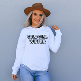 cold girl winter white sweatshirt winter top for women