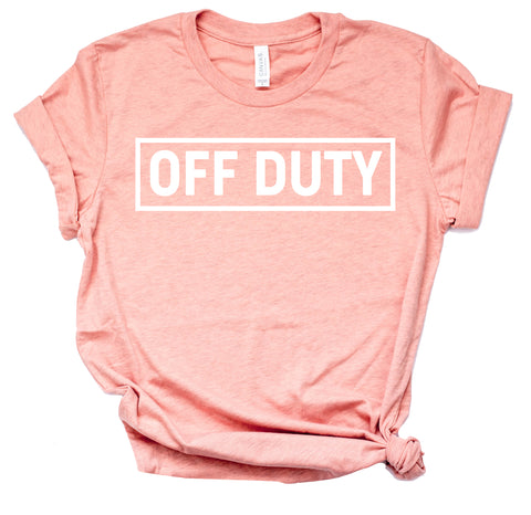 Off Duty Shirt Women's Graphic Tshirts