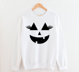 Pumpkin Face With Lashes Halloween Sweatshirt
