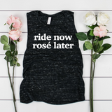 Ride Now Rose Later Women's Muscle Tank Top
