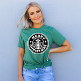 green merry Christmas shirts for women