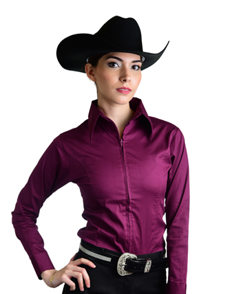 Royal Highness Ladies Zip Up Shirt