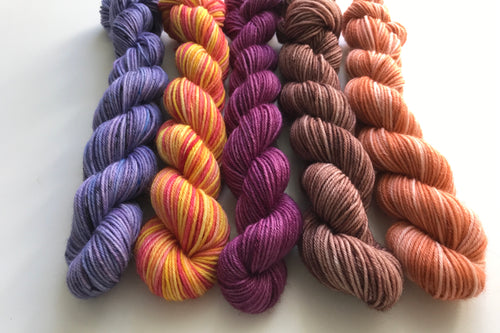 Autumn themed mini skein set
