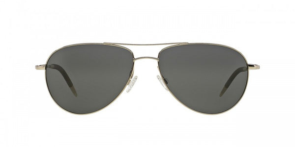 Oliver Peoples Benedict in Silver + Graphite Polar Glass