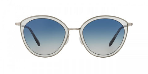 Oliver Peoples Gwynne in Brushed Silver + Grey/Blue Gradient