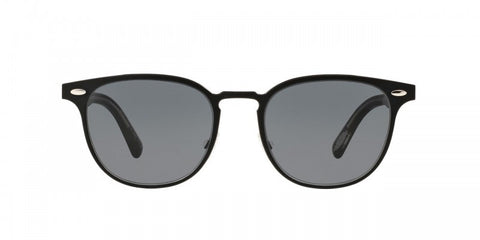 Oliver Peoples Sheldrake Metal in Brushed Black/Black Crystal + Grey
