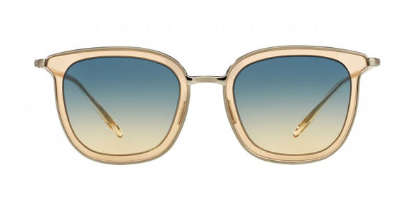 Oliver Peoples Annetta in Brushed Silver + Opal Flash/Dusk Gradient