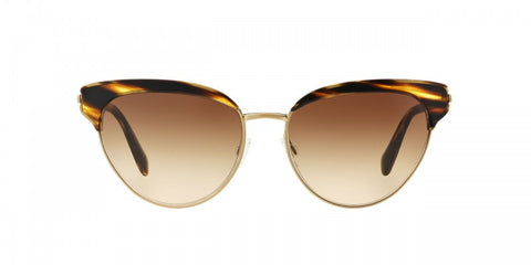 Oliver Peoples Josa in Semi-Matte Cocobolo/Brushed Gold + Umber Gradient