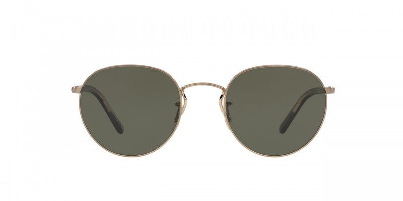 Oliver Peoples Hasset in Brushed Gold/Burlwood + G-15 Polar Glass