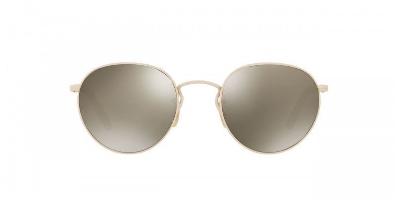 Oliver Peoples Hasset in Bone/Beige Silk + Grey Goldtone Glass