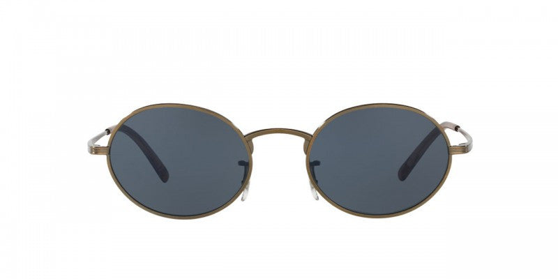 Oliver Peoples The Row Empire Suite in Antique Gold + Blue Glass