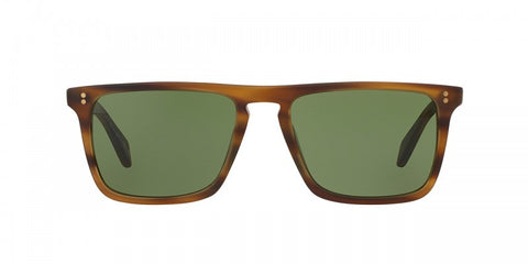 Oliver Peoples Bernardo in Matte Sandalwood + Green C Mineral Glass